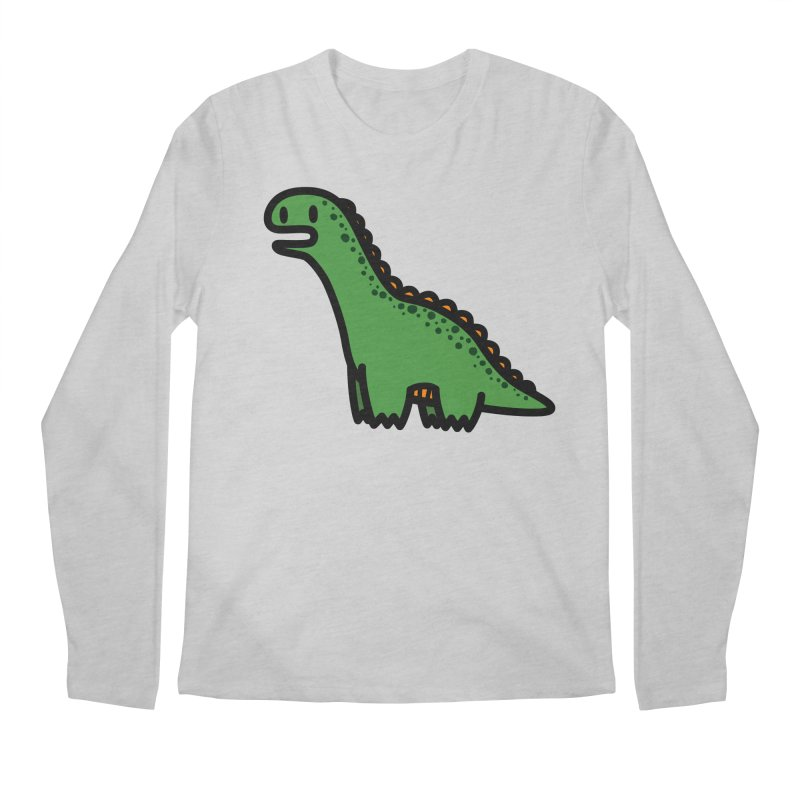 little green diplodocus dino Men's Regular Longsleeve T-Shirt by Ziqi - Monster Little