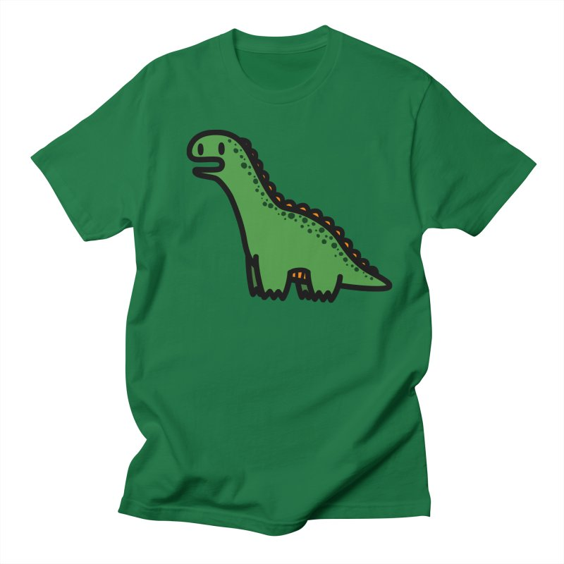 little green diplodocus dino Men's Regular T-Shirt by Ziqi - Monster Little