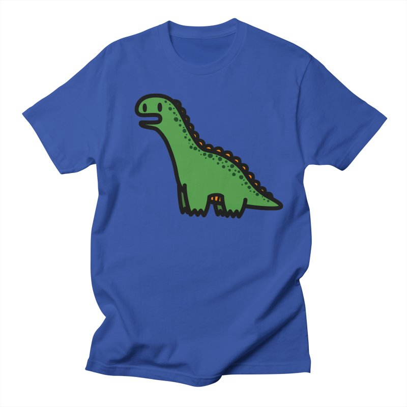 little green diplodocus dino Men's T-shirt by Ziqi - Monster Little