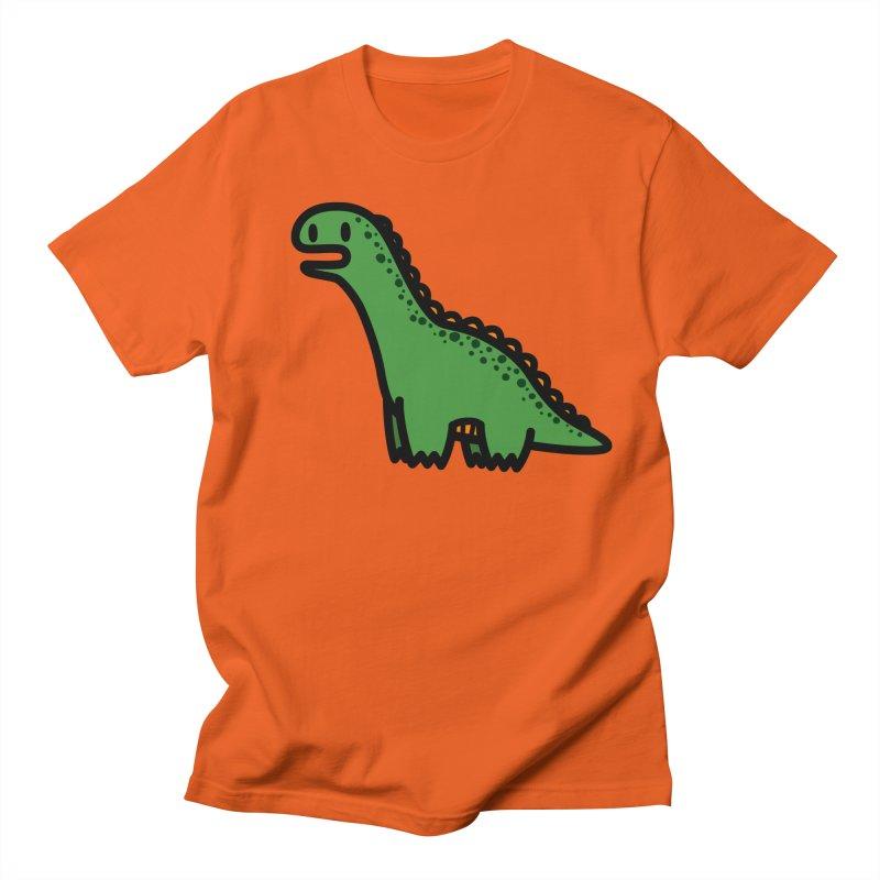 little green diplodocus dino Men's Regular T-Shirt by Ziqi - Monster Little