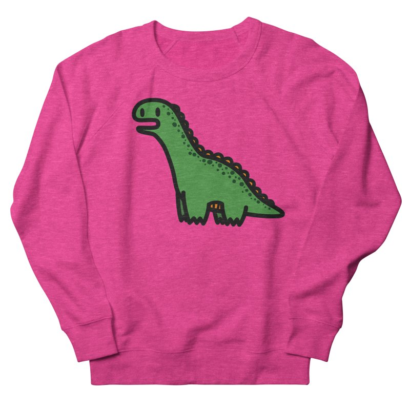little green diplodocus dino Women's French Terry Sweatshirt by Ziqi - Monster Little