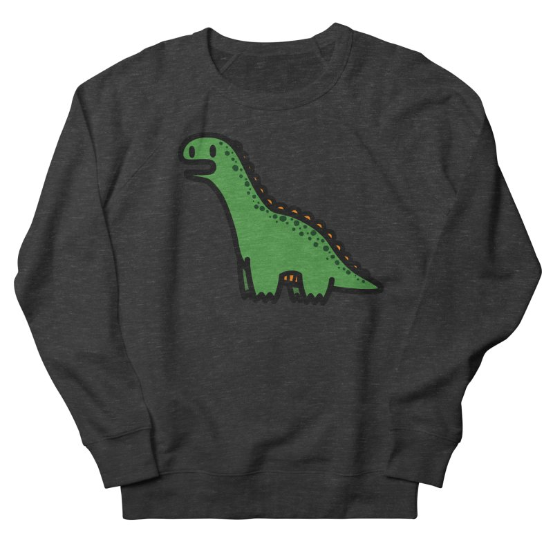 little green diplodocus dino Men's French Terry Sweatshirt by Ziqi - Monster Little