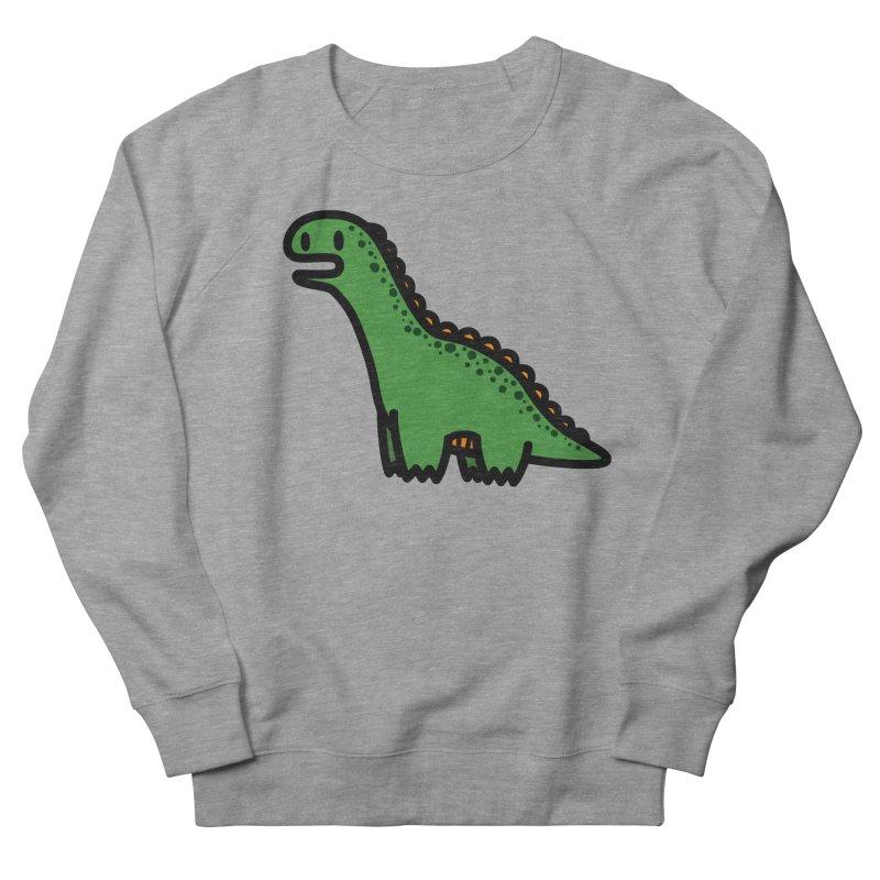 little green diplodocus dino Men's Sweatshirt by Ziqi - Monster Little