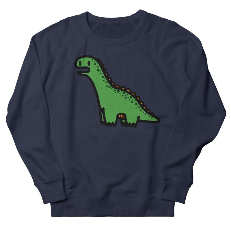 little green diplodocus dino Men's French Terry Sweatshirt by Ziqi - Monster Little