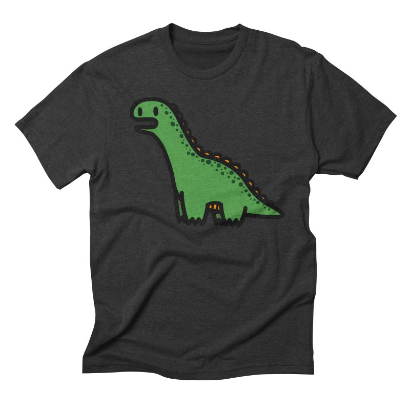 little green diplodocus dino Men's Triblend T-Shirt by Ziqi - Monster Little