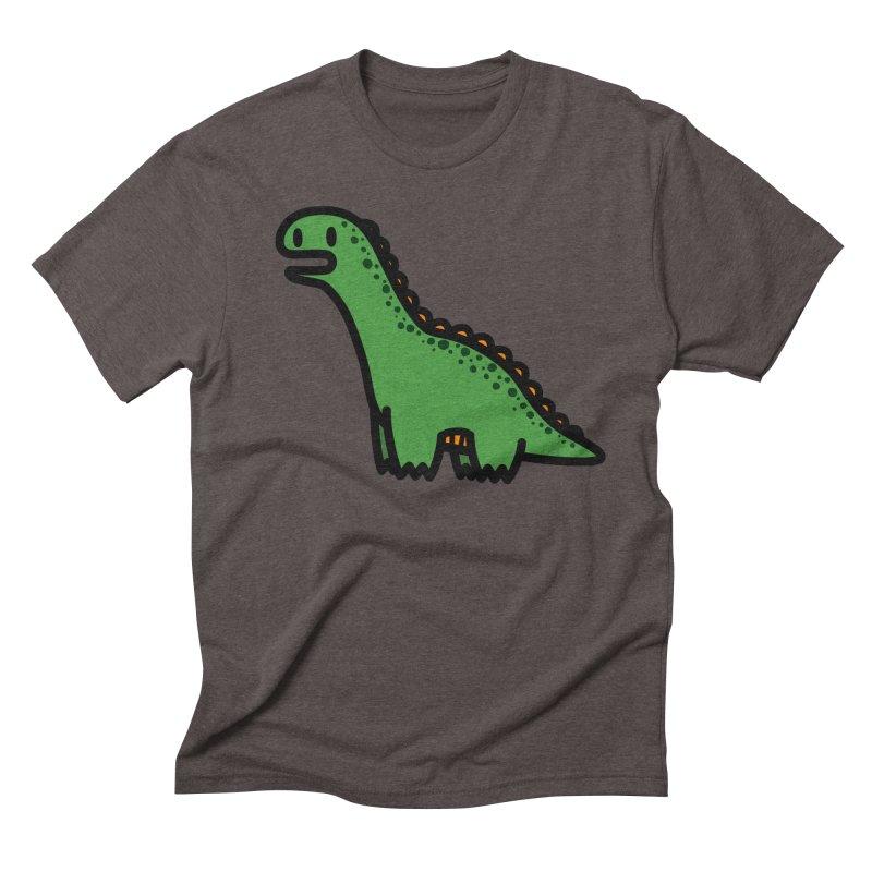 little green diplodocus dino Men's Triblend T-Shirt by Ziqi - Monster Little