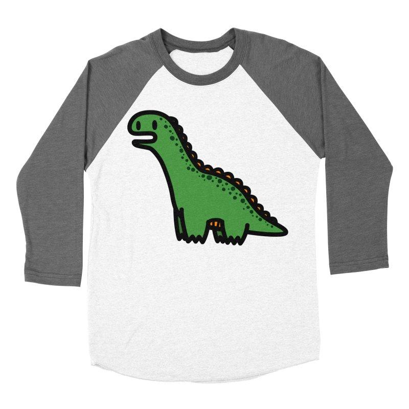 little green diplodocus dino Women's Longsleeve T-Shirt by Ziqi - Monster Little