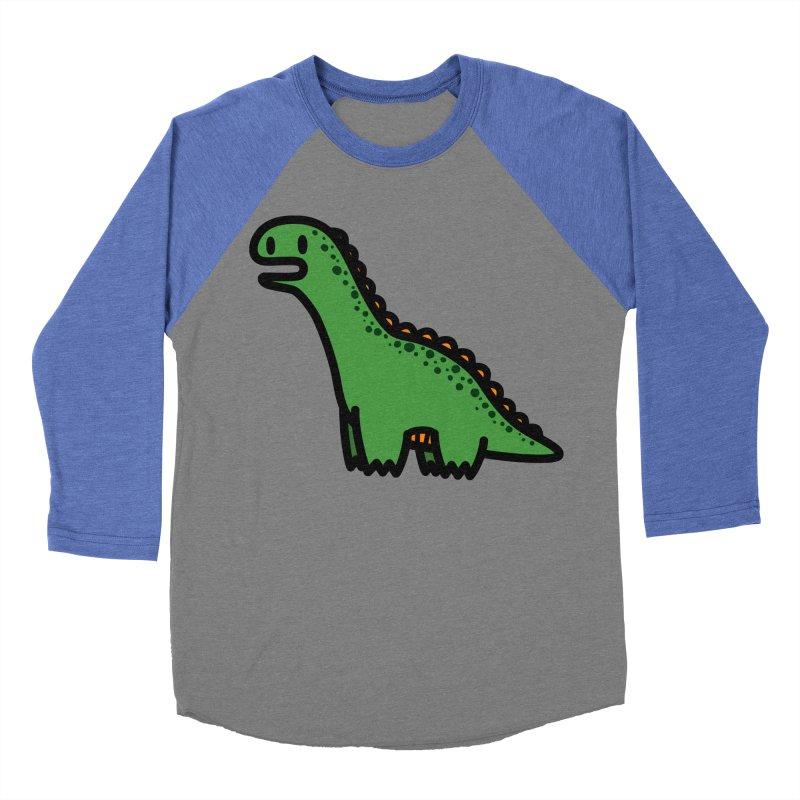 little green diplodocus dino Women's Baseball Triblend Longsleeve T-Shirt by Ziqi - Monster Little