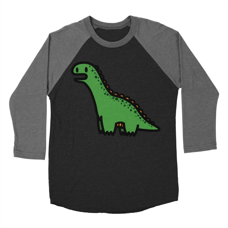 little green diplodocus dino Women's Baseball Triblend Longsleeve T-Shirt by Ziqi - Monster Little