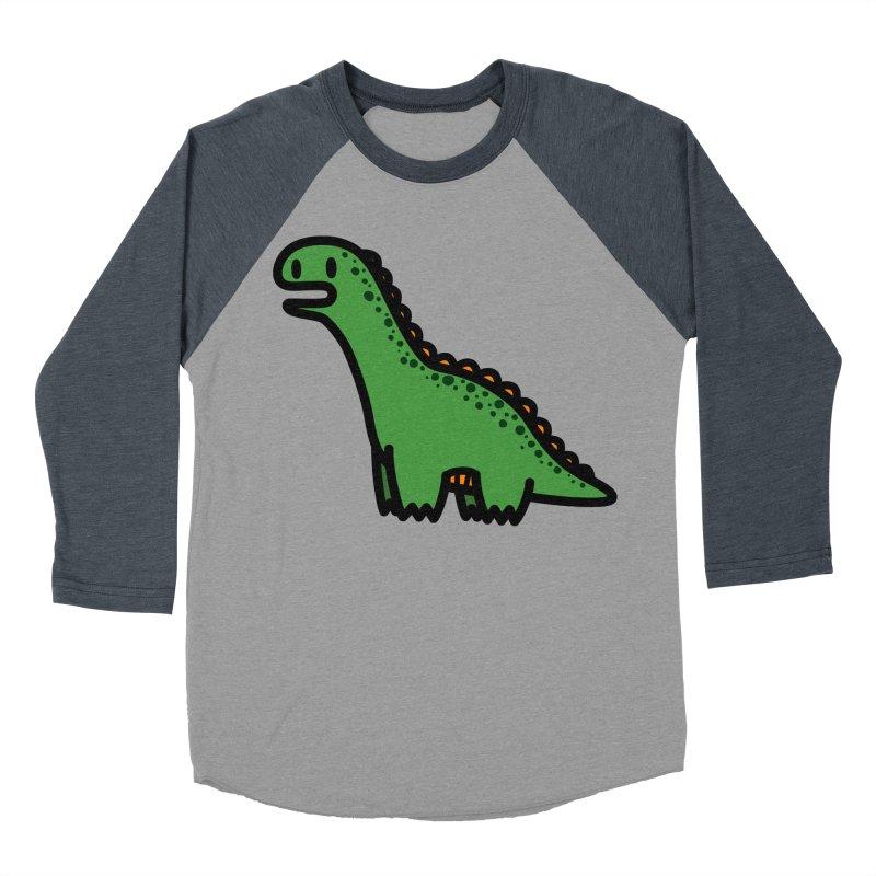 little green diplodocus dino Men's Baseball Triblend Longsleeve T-Shirt by Ziqi - Monster Little