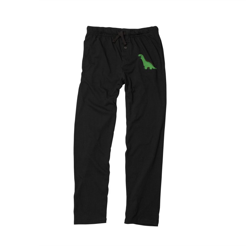 little green diplodocus dino Men's Lounge Pants by Ziqi - Monster Little
