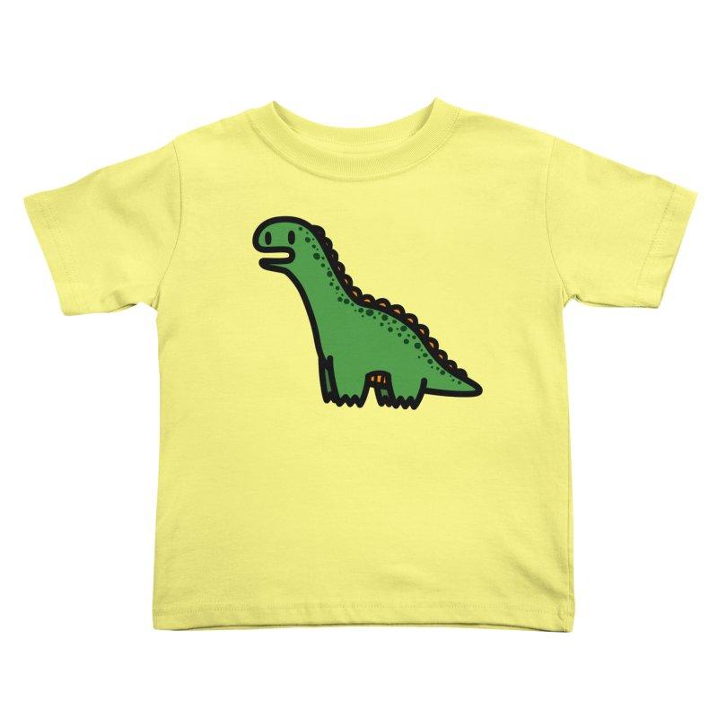 little green diplodocus dino Kids Toddler T-Shirt by Ziqi - Monster Little