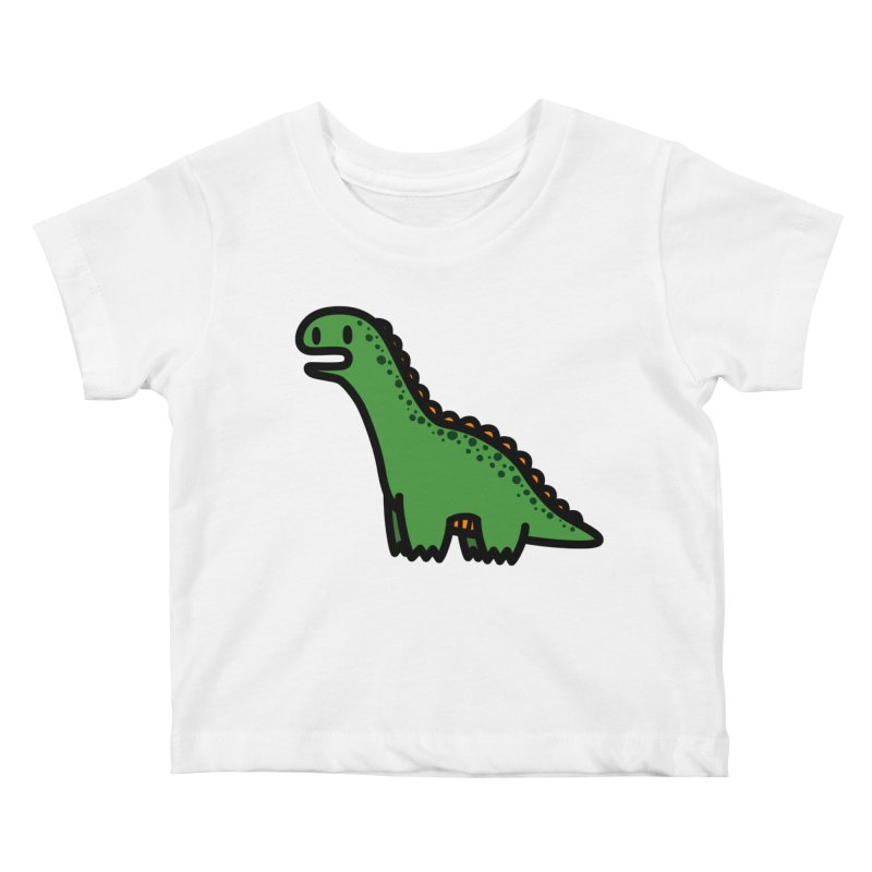 little green diplodocus dino Kids Baby T-Shirt by Ziqi - Monster Little