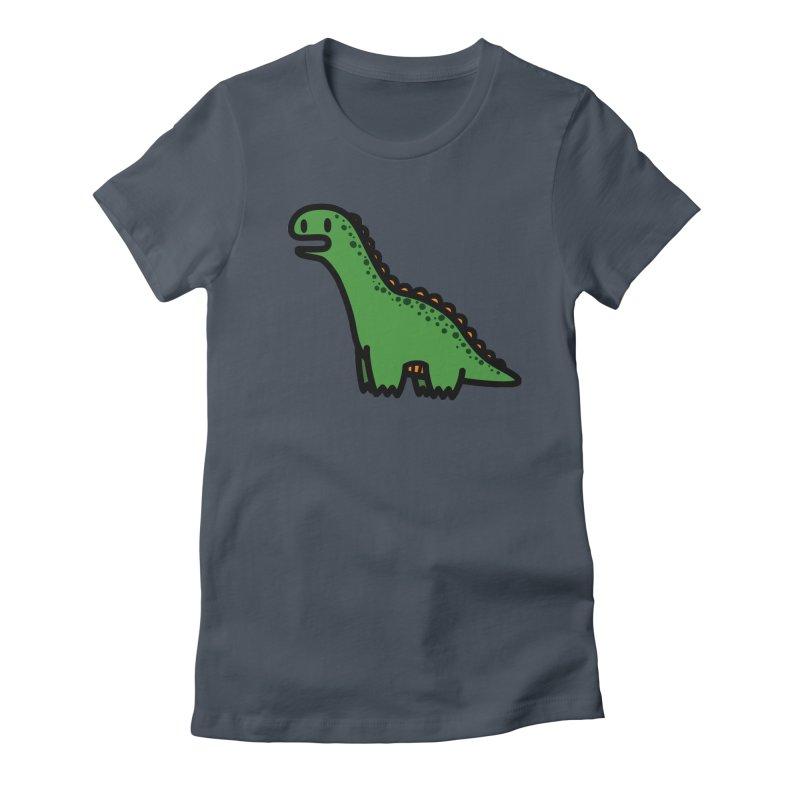 little green diplodocus dino Women's T-Shirt by Ziqi - Monster Little