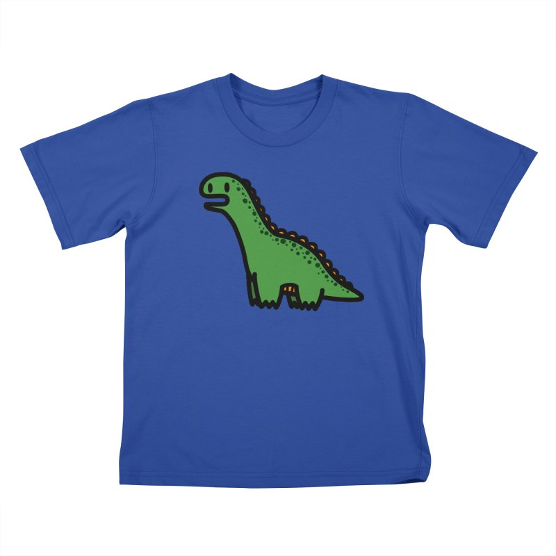 little green diplodocus dino Kids T-Shirt by Ziqi - Monster Little