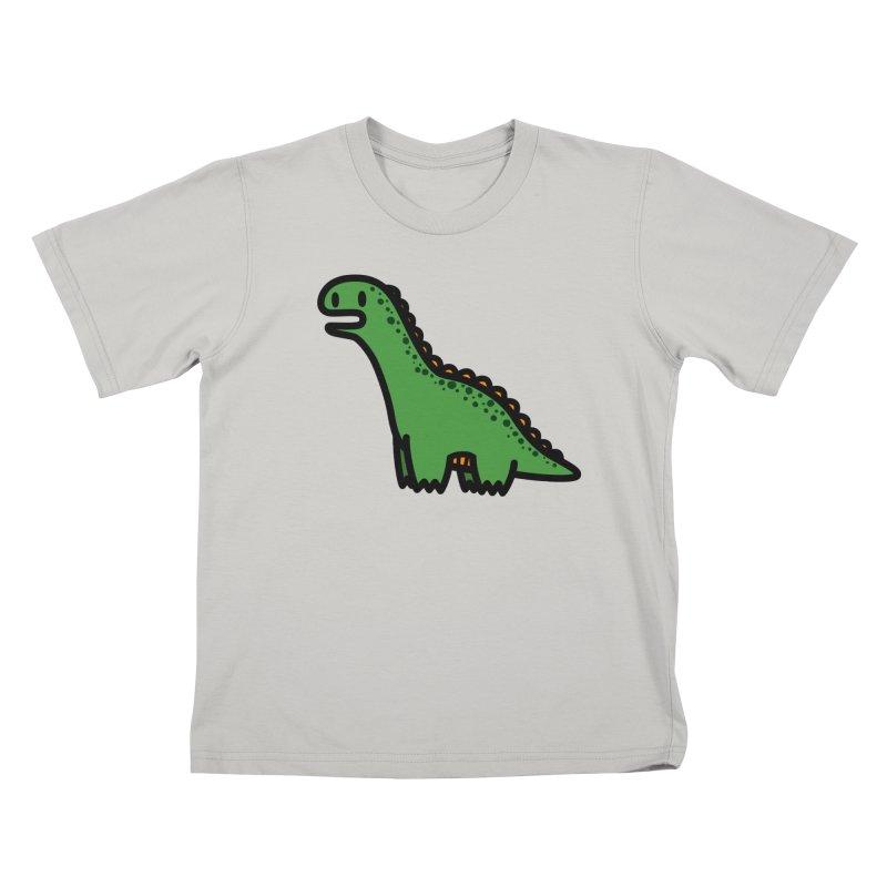 little green diplodocus dino Kids T-Shirt by Ziqi - Monster Little