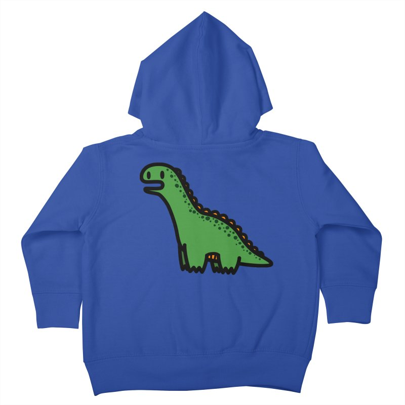 little green diplodocus dino Kids Toddler Zip-Up Hoody by Ziqi - Monster Little