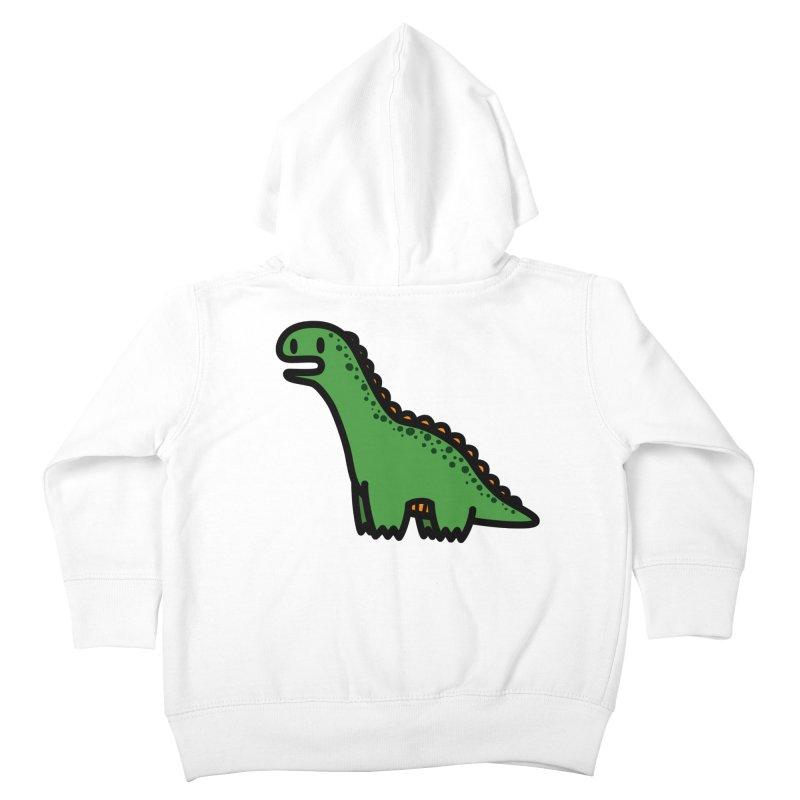 little green diplodocus dino Kids Toddler Zip-Up Hoody by Ziqi - Monster Little
