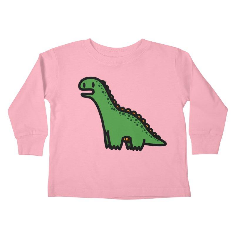 little green diplodocus dino Kids Toddler Longsleeve T-Shirt by Ziqi - Monster Little
