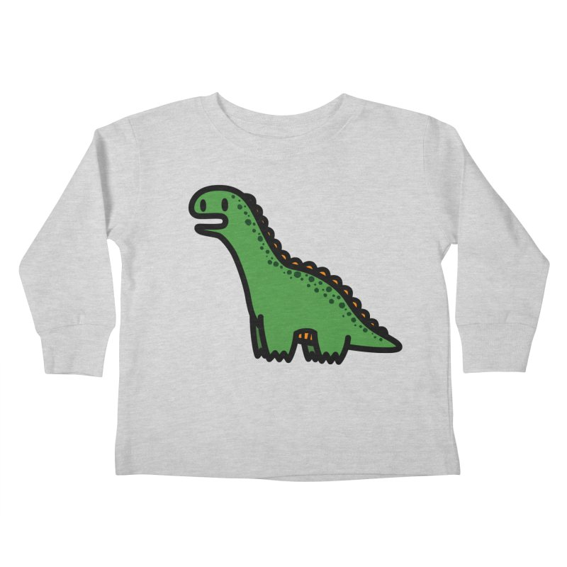 little green diplodocus dino Kids Toddler Longsleeve T-Shirt by Ziqi - Monster Little