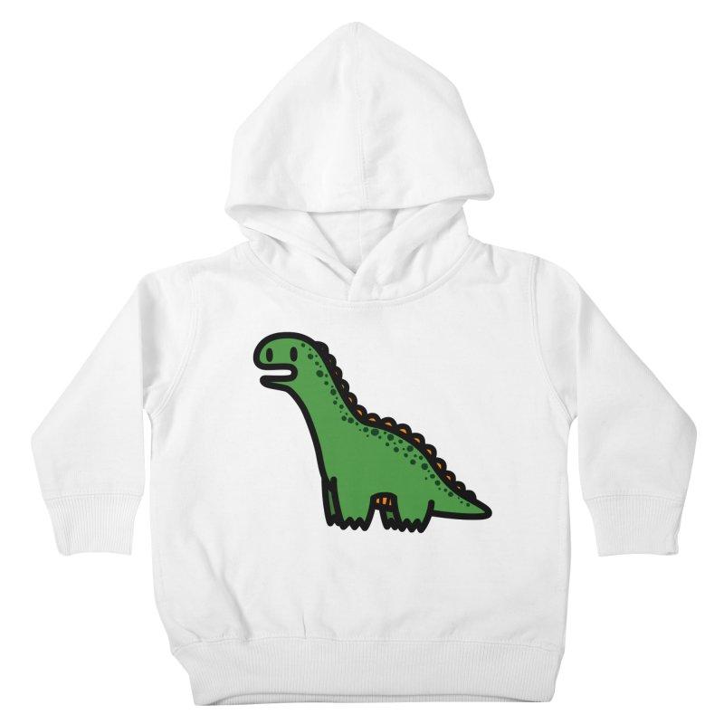 little green diplodocus dino Kids Toddler Pullover Hoody by Ziqi - Monster Little