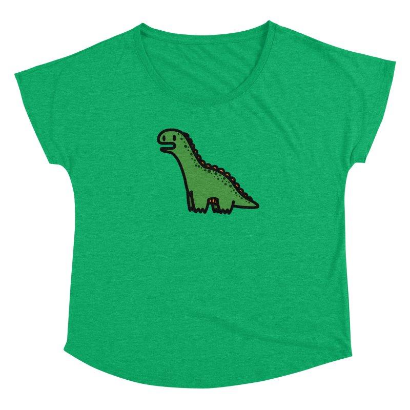 little green diplodocus dino Women's Dolman by Ziqi - Monster Little