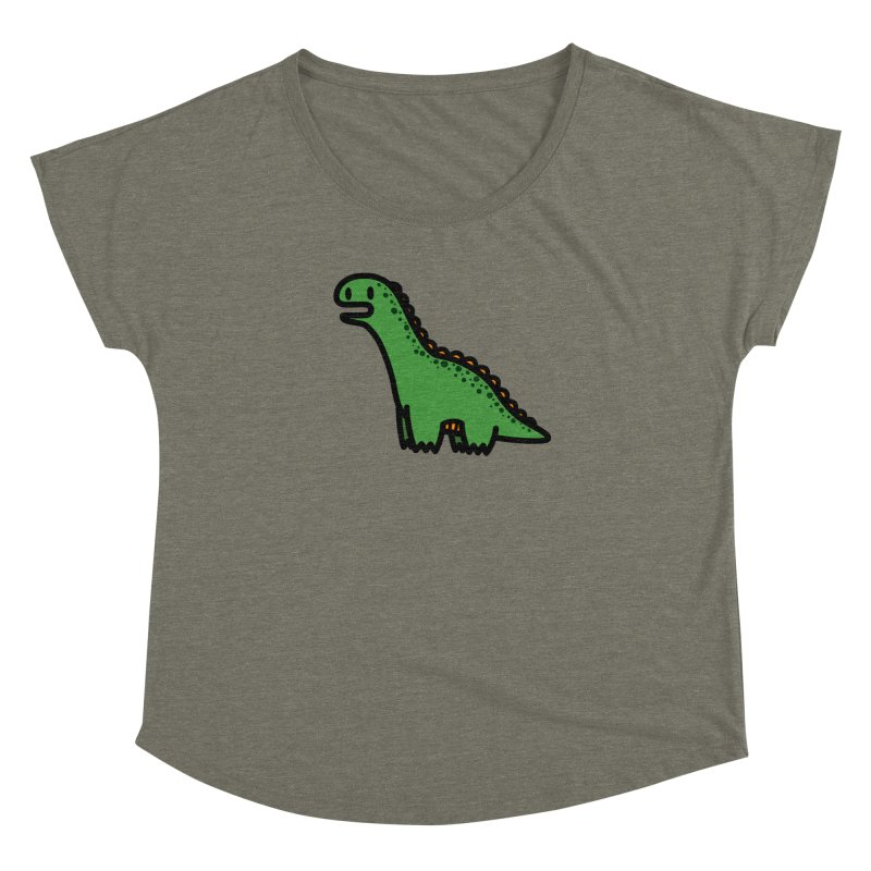 little green diplodocus dino Women's Dolman Scoop Neck by Ziqi - Monster Little