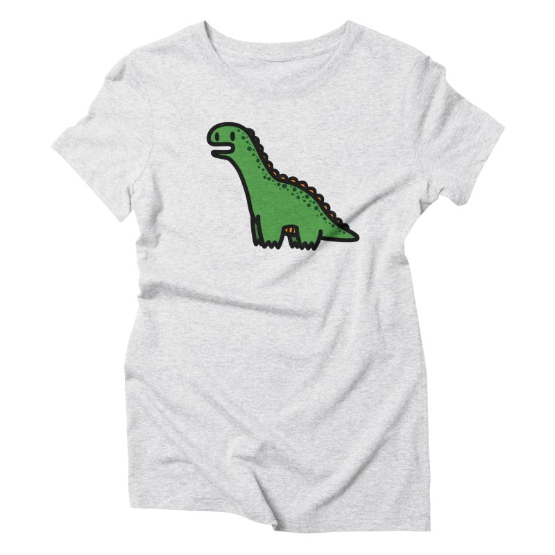little green diplodocus dino Women's Triblend T-Shirt by Ziqi - Monster Little