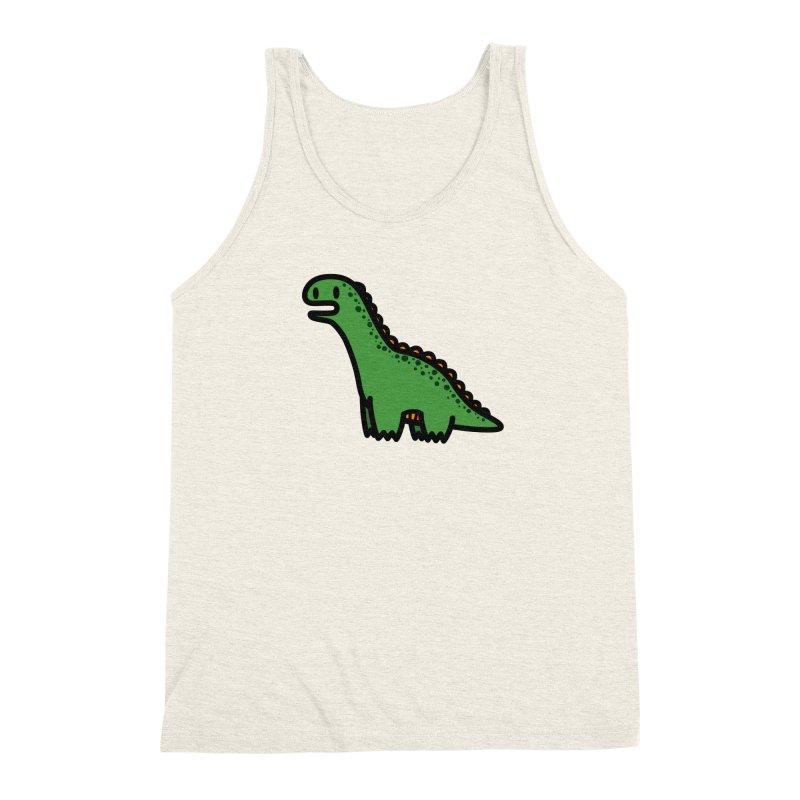 little green diplodocus dino Men's Triblend Tank by Ziqi - Monster Little