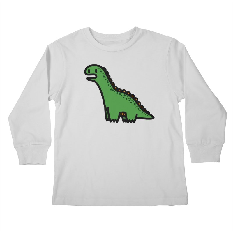 little green diplodocus dino Kids Longsleeve T-Shirt by Ziqi - Monster Little