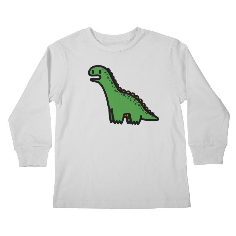 little green diplodocus dino Kids Longsleeve T-Shirt by Ziqi - Monster Little