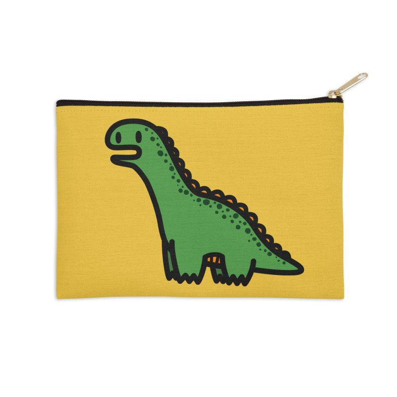 little green diplodocus dino Accessories Zip Pouch by Ziqi - Monster Little