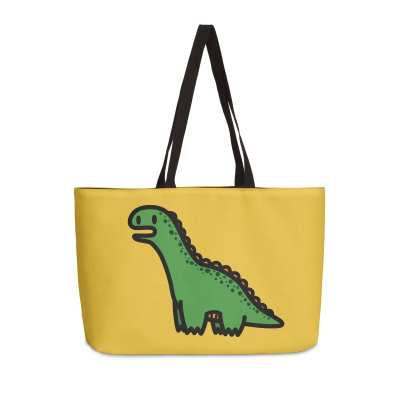 little green diplodocus dino Accessories Weekender Bag Bag by Ziqi - Monster Little