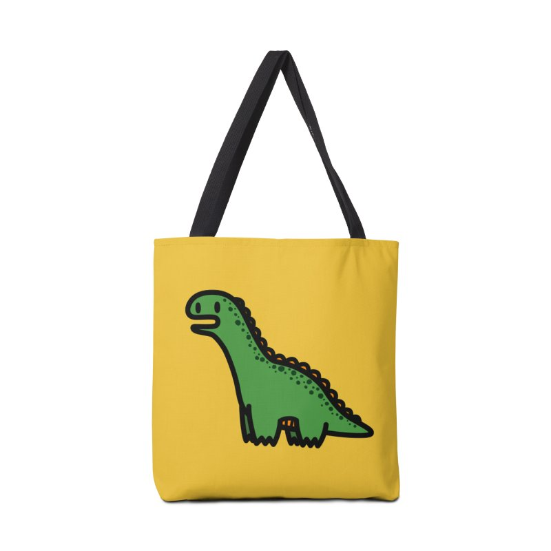 little green diplodocus dino Accessories Tote Bag Bag by Ziqi - Monster Little