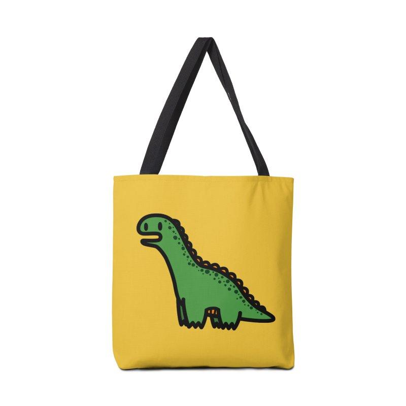 little green diplodocus dino Accessories Bag by Ziqi - Monster Little