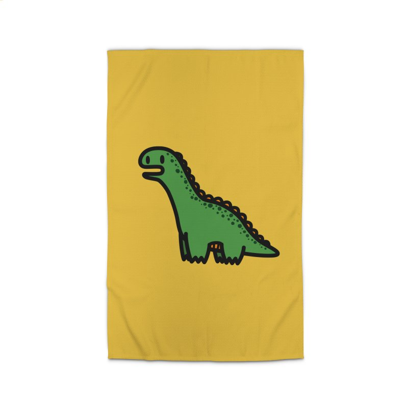 little green diplodocus dino Home Rug by Ziqi - Monster Little