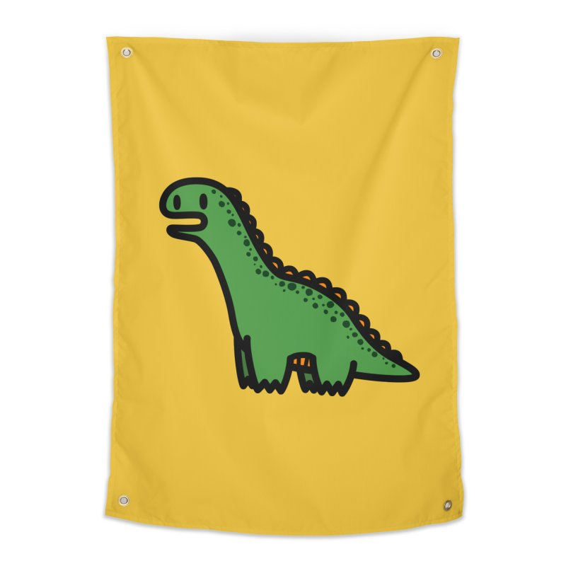 little green diplodocus dino Home Tapestry by Ziqi - Monster Little
