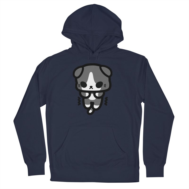 scaredy scaredy grey white kitty Men's Pullover Hoody by Ziqi - Monster Little