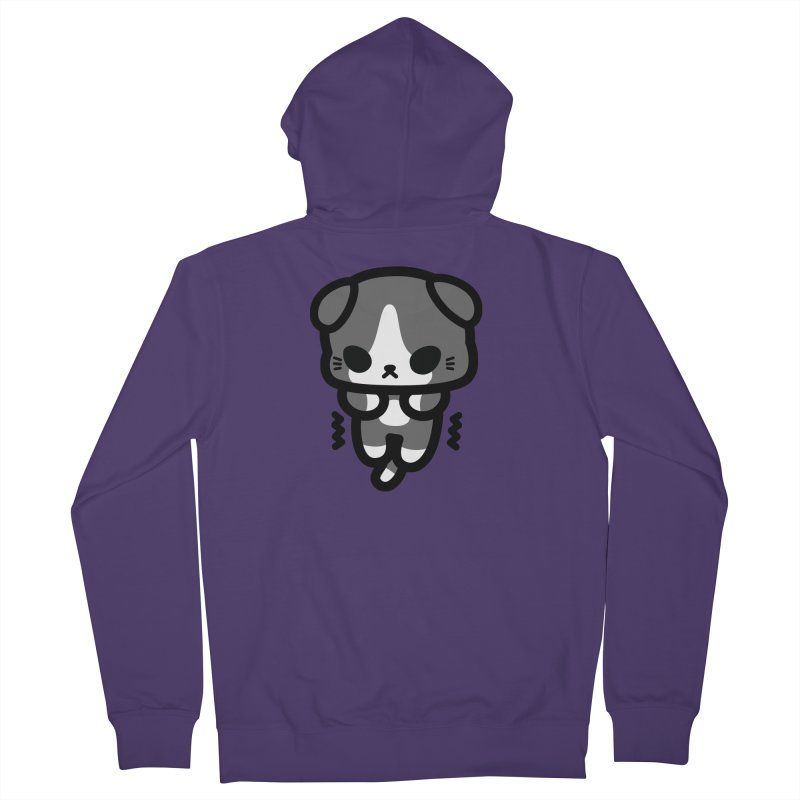 scaredy scaredy grey white kitty Women's Zip-Up Hoody by Ziqi - Monster Little