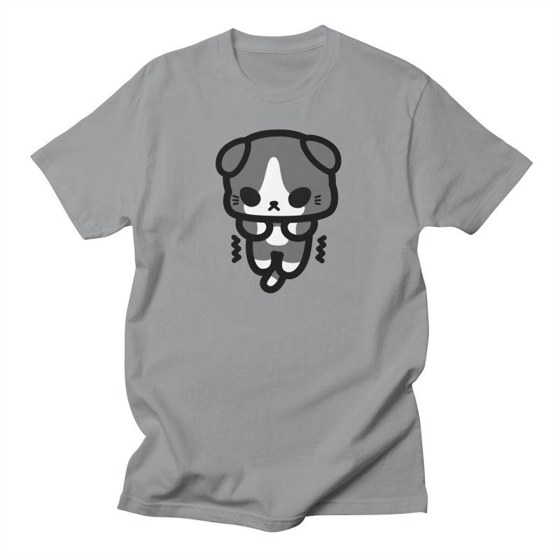 scaredy scaredy grey white kitty Men's T-Shirt by Ziqi - Monster Little