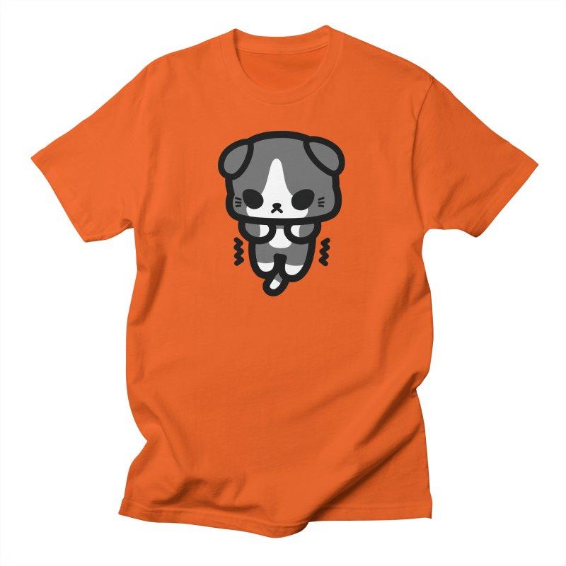 scaredy scaredy grey white kitty Men's Regular T-Shirt by Ziqi - Monster Little