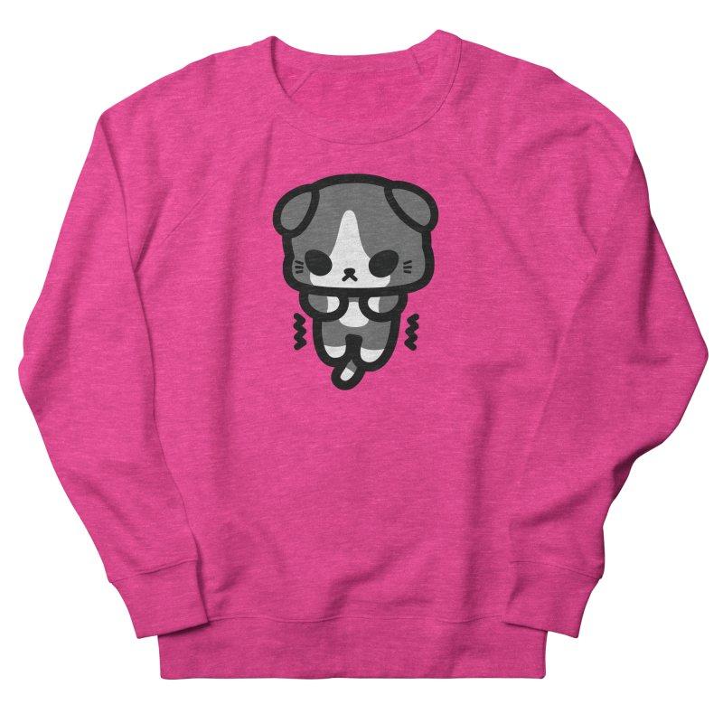 scaredy scaredy grey white kitty Men's Sweatshirt by Ziqi - Monster Little