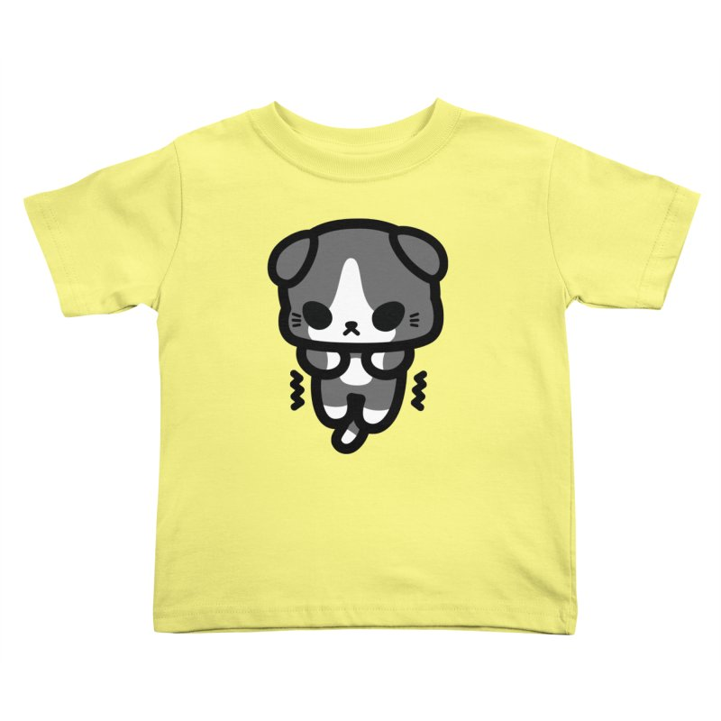 scaredy scaredy grey white kitty Kids Toddler T-Shirt by Ziqi - Monster Little