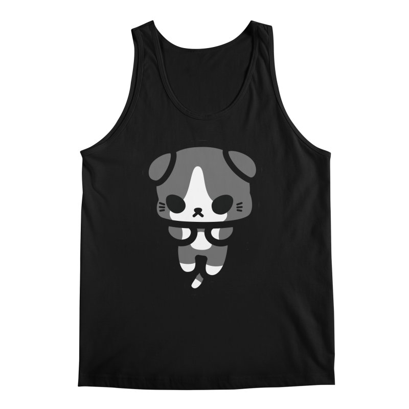 scaredy scaredy grey white kitty Men's Regular Tank by Ziqi - Monster Little