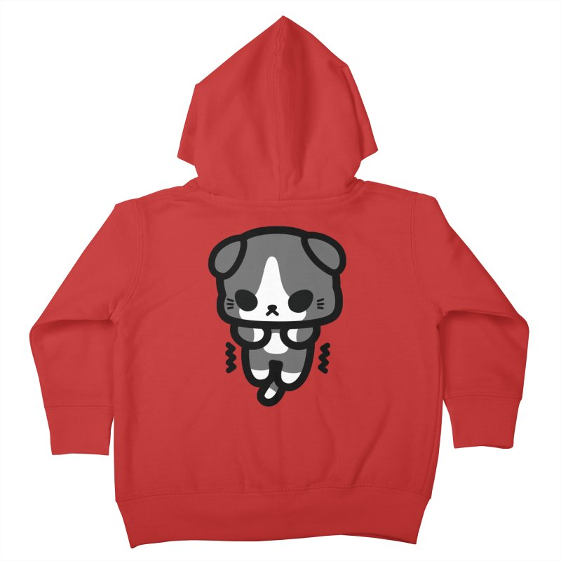 scaredy scaredy grey white kitty Kids Toddler Zip-Up Hoody by Ziqi - Monster Little