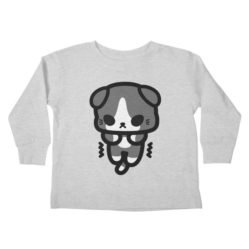 scaredy scaredy grey white kitty Kids Toddler Longsleeve T-Shirt by Ziqi - Monster Little
