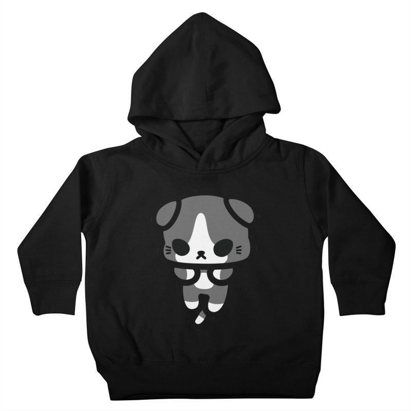 scaredy scaredy grey white kitty Kids Toddler Pullover Hoody by Ziqi - Monster Little