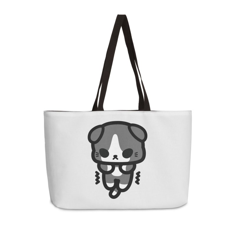 scaredy scaredy grey white kitty Accessories Weekender Bag Bag by Ziqi - Monster Little