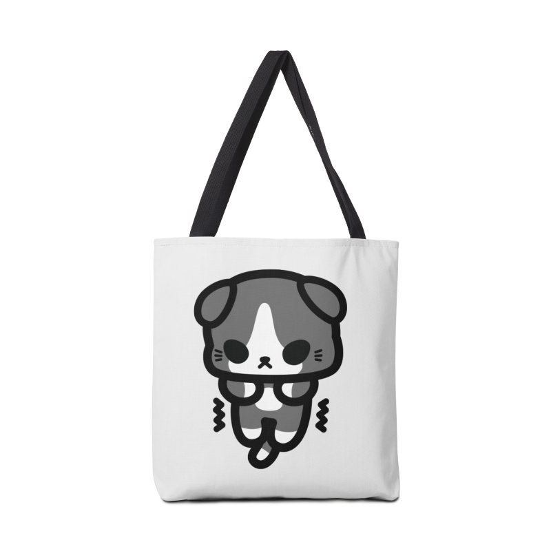 scaredy scaredy grey white kitty Accessories Bag by Ziqi - Monster Little