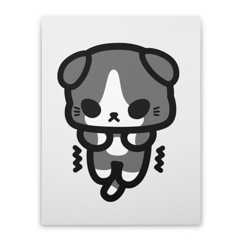 scaredy scaredy grey white kitty   by Ziqi - Monster Little